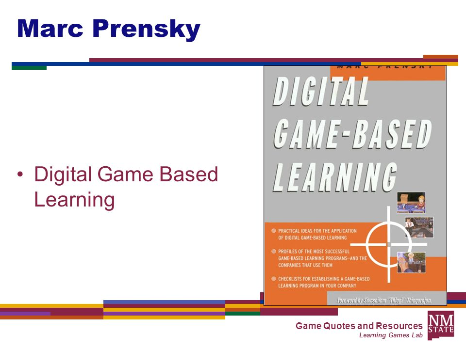 Digital Game-Based Learning By Marc Prensky; The Background